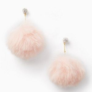Kate Spade chic and cushy linear pouf earrings